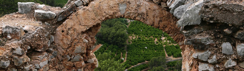 Paisatge des de castell en la comarca de la Safor